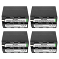 7.2V 7200mAh NP-F960 NP-F970 NP F970 NP F960 Camcorder batteries(4 Pack)  for Sony NP-F550 F770 F750 F960 F970