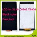 Alta qualidade para sony xperia z ultra xl39h xl39 c6802 C6833 C6843 Display LCD de Substituição com Digitador Da Tela de Toque Fre ferramentas
