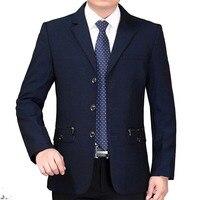 2017 New Arrive Autumn Mature Men Office Professional Suit Formal Businese Slim Male Designer Casual Suit
