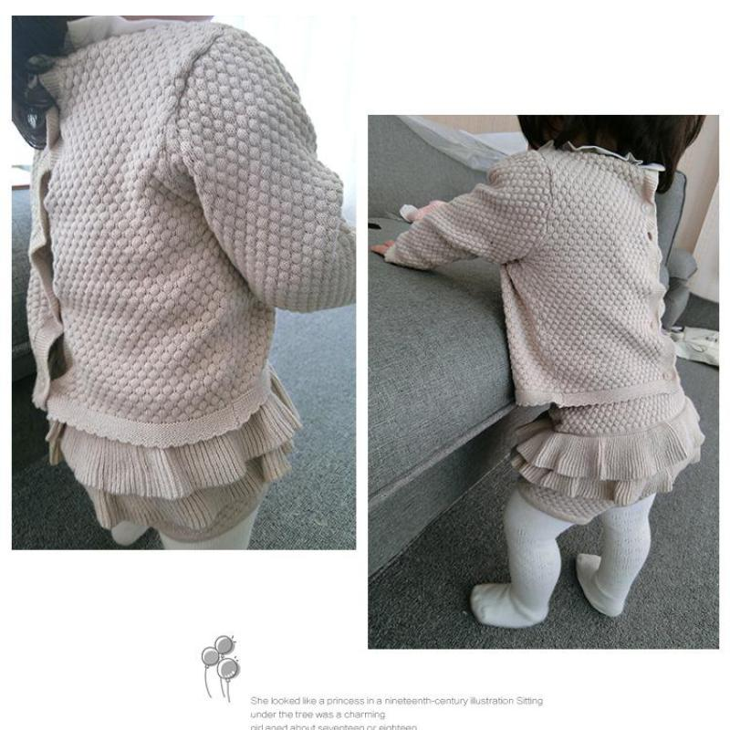 Baby Clothing Set Two Girls Suit Knit   Year Old Cotton Baby Long Sleeve Blouse