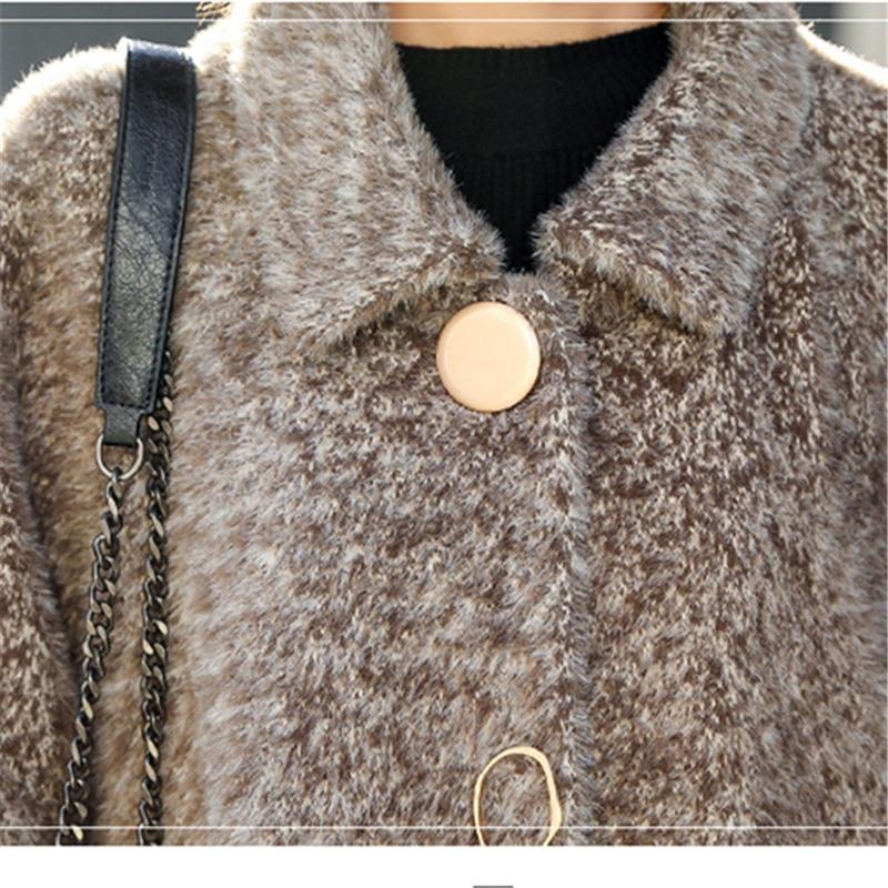 Dans Velours Rice Et Hjb396 Section Pink La L'eau 2018 Manteau Femmes Grey De Automne Laine Populaire Nouveau Or dark Longue D'hiver P5x8qwT