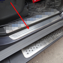 Stainless steel door sill strip for chevrolet captiva 2013 14-16 Threshold trim car styling welcome pedal Scuff plate cover film stainless steel door sill strip for chevrolet captiva 2013 14 16 threshold trim car styling welcome pedal scuff plate cover film