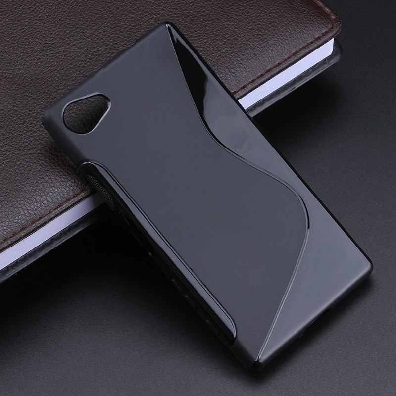 S line Anti Skidding Gel TPU Slim Soft Case Back Cover For Sony Xperia Z5 Compact Z5 Min Mobile Phone Rubber silicone Bag