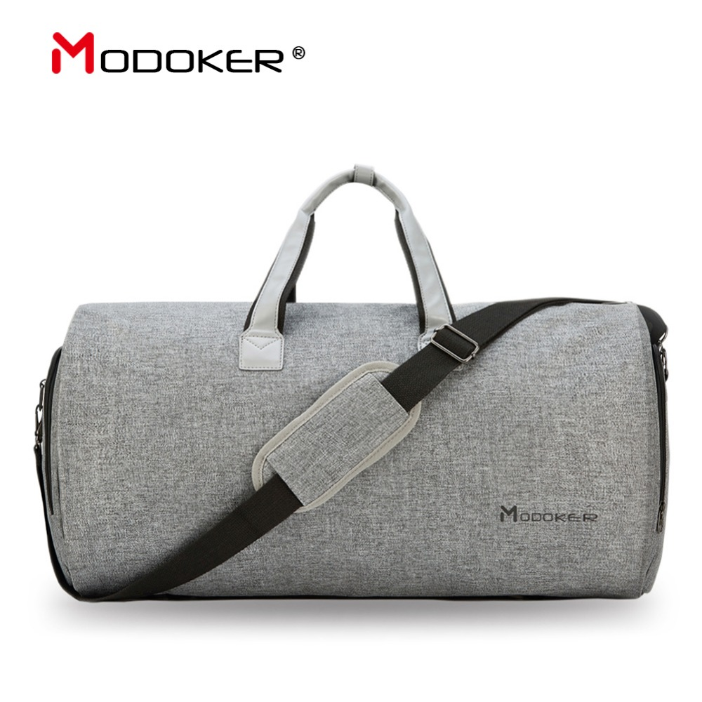 Modoker Travel Garment Bag with Shoulder Strap Duffel Bag Carry on Hanging  Suitcase Clothing Business Bag f6af76368f