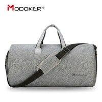 Modoker Дорожный Чехол для одежды с плечевым ремнем вещевой мешок носить на Висячие чехол для чемоданов бизнес сумка несколько карманов