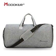 어깨 끈이 달린 Modoker Garment 여행 가방 Duffel Bag Hanging Suitcase Clothing 비즈니스 가방 다중 포켓 그레이