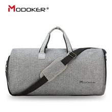 Modoker Travel Garment Bag with Shoulder Strap Duffel Bag Carry on Hanging Suitcase Clothing Business Bag Multiple Pockets(China)