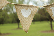 Mr And Mrs Rustic Hesian Bunting