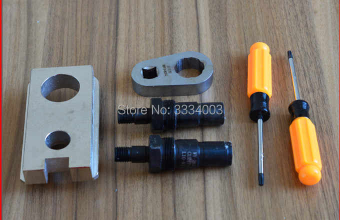 common rail injector disassemble dismounting tool for CUMMINS EUI M11-N14,  common rail injector nozzle adapters for CUMMINS
