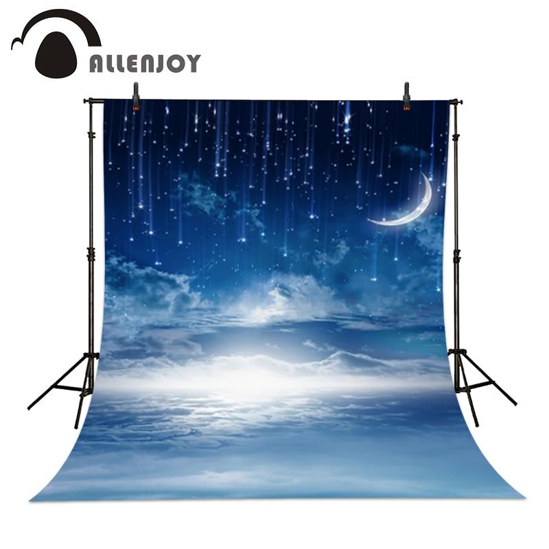 Allenjoy Professzionális fotózás háttér Felhő kék hold és - Kamera és fotó