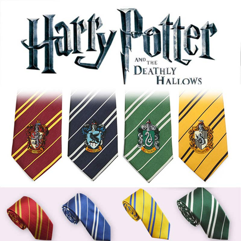 Harry Potter Tie Cosplay Costume Accessories Gryffindor Harri Potter Series Tie Cos Necktie Cosplay Gift For Kid Adult Wholesale