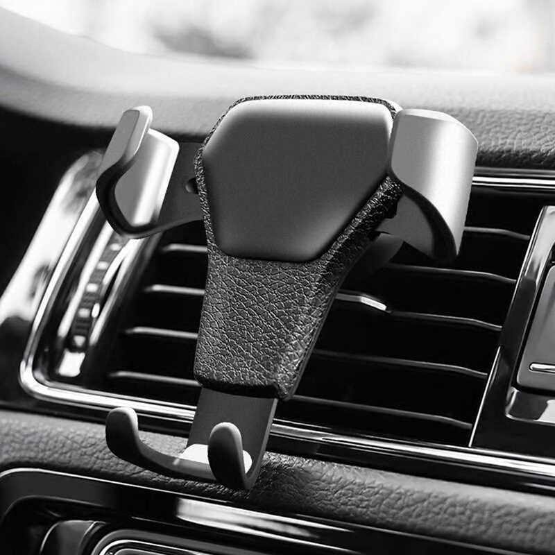 Universal Car Phone Holder Gravity Sensing Lazy Mobile Phone Clip Air Outlet Buckle for Car Compatible with Most Smartphones