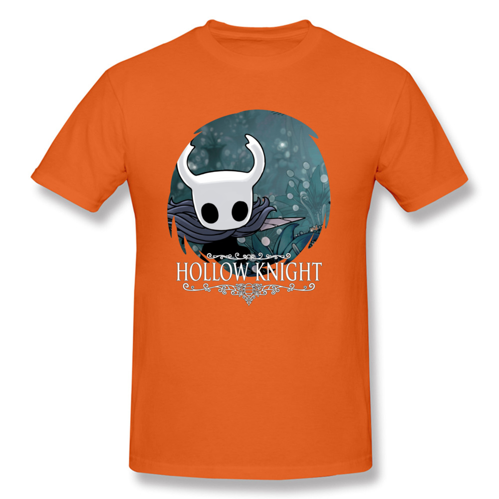 Normal Hollow Knight 20351 T Shirts Funky Autumn Short Sleeve O-Neck T Shirt All Cotton Men's Fashionable Tee Shirt Hollow Knight 20351 orange