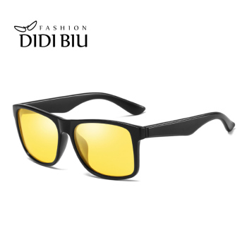 DIDI Polarized Night Vision Yellow Sunglasses Women Men Square Vintage Plastic Frame Sun Glasses Driving Goggles Oculos UL950