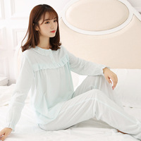 Free Shipping Autumn Retro Princess Women S Pajamas Long Pants Set Pink Sleepwear 100 Cotton Pajamas