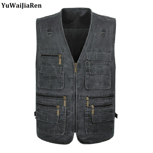 Oversize M-7XL Multifunction Men's Vest With Many Pockets Quick Dry Sleeveless Waistcoat Travel Clothes Photography Vests