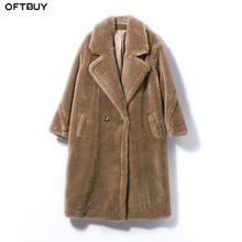OFTBUY 2020 Real Fur Coat Long Parka Winter Jacket Women Natural Wool Sheep Shearing Fur Streetwear Oversize Thick Warm Brand