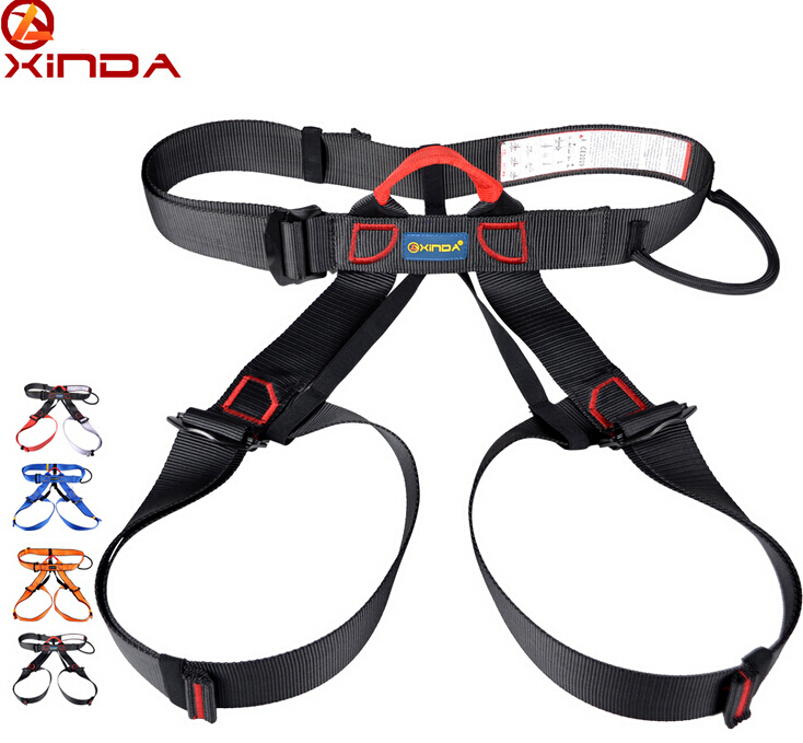 Awesome XINDA Professional Outdoor Sports Rock Climbing Half Body Waist Support  Safety Belt Harness Aerial Equipment Survival Kit