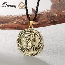 PLAUTILLA Denier Coin Necklace Women Men Ancient Rome Cippus AVGVSTA Commemorative Jewelry Silver Figure Vintage Necklace(Hong Kong,China)