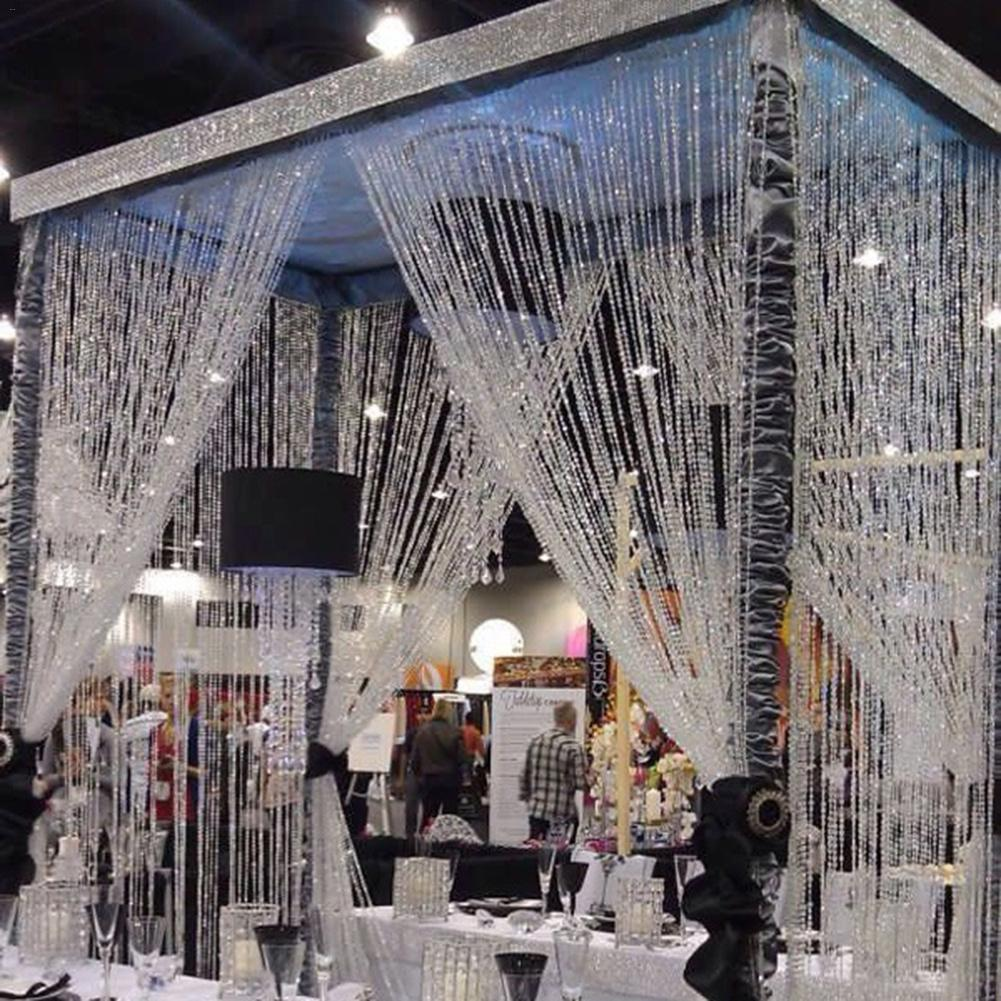 10M Wedding Decoration Octagonal Acrylic Crystal Beads Door Curtain  Iridescent Garland Strand Shimmer Curtains DIY Party