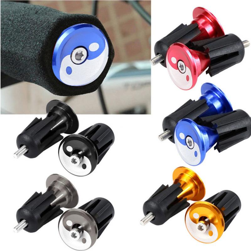 1 Pair Bicycle Handle Bar Cap End Plugs Bike Bicycle Aluminum Handlebar Grips Handle Bar Cap End Plugs Bicycle Bikes Parts