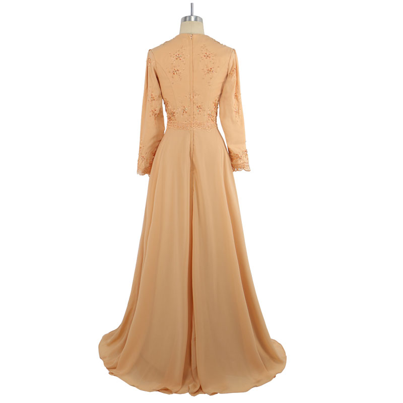 The Frauen Abendkleider Lange Kleid Muslimische Gelb Hijab Picture Marokkanischen 2017 As Abendkleid Türkische Bilder Appliques Kleidung yXc6qfv