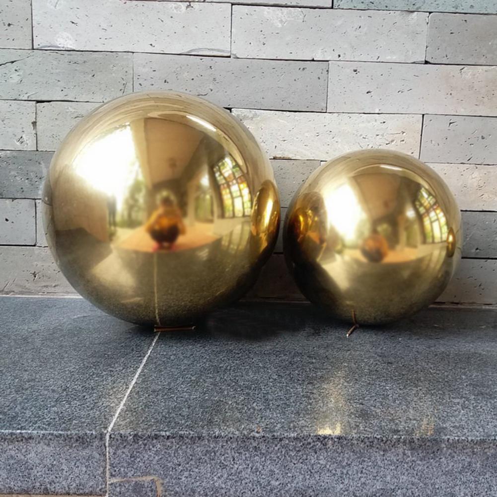 Decoration:  201 Stainless Steel Titanium Gold Hollow Ball Seamless Home&Garden Decoration Mirror Ball Sphere - Martin's & Co