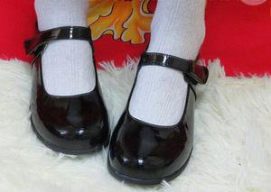 Image 1 - Alicja w krainie czarów Cosplay śliczne damskie Lolita pokojówka buty z zaokrąglonym czubkiem japoński mundurek szkolny Uwabaki płaskie Mary Janes