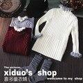 autumn winter baby girls sweaters turleneck  jacket wool  children clothing kniting costumn for kids roupas infantis menino