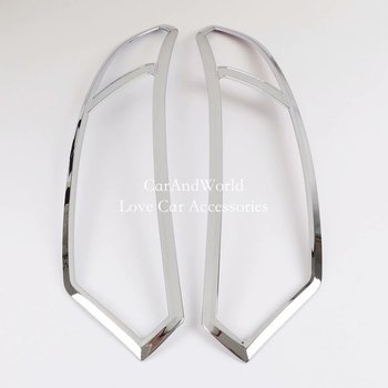 Exterior Headlight Cover head Lamp Guard Visor Trims For Ford Ecosport 2013 2014 2015 2016 2017 Car Styling Molding Accessories