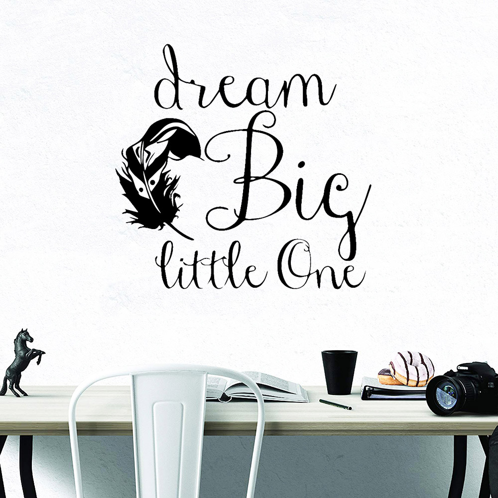 Large SizeBig Dream Decorative Sticker Waterproof Home Decor Nursery Kids Room Wall Decor Vinyl Art Decals