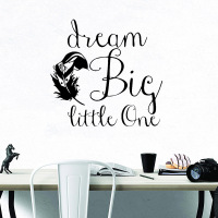 Large SizeBig Dream Decorative Sticker Waterproof Home Decor Nursery Kids Room Wall Decor Vinyl Art Decals