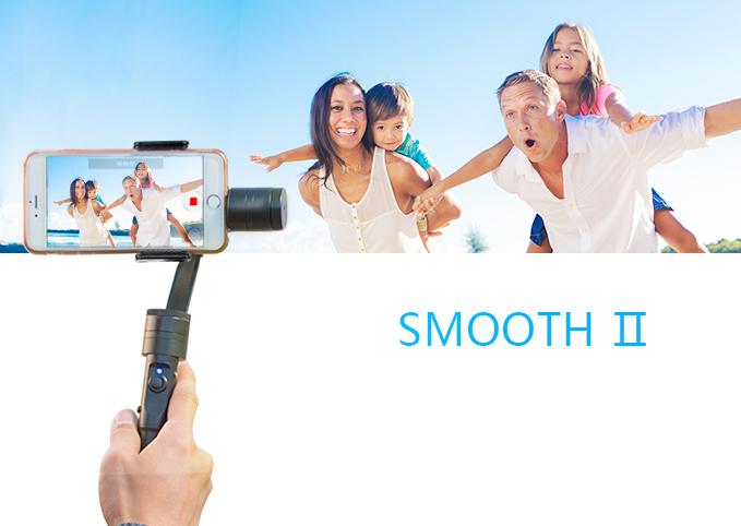 New! Official Zhiyun [Smooth2] 3 Axis Brushless Handheld Camera Gimbal Stabilizer for smartphone