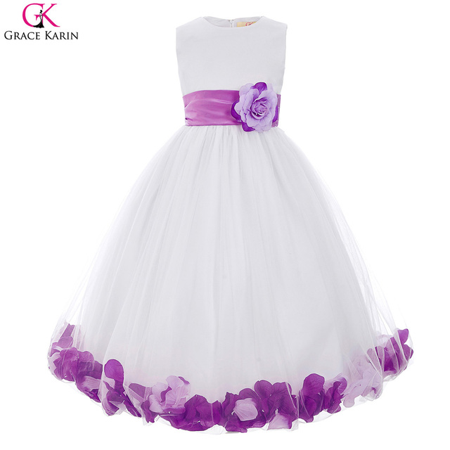 cea6912c5 Flower Girl Dress For Wedding Petals Grace Karin First Communion Dresses  For Girls Pageant Red Blue
