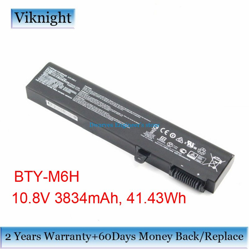 Genuine BTY-M6H Laptop Battery for MSI GE62 MS-16J1 MS-16J2 BTY-M6H Battery 3834mAh 41.43Wh jigu bty l76 ms 1771 original laptop battery for msi gs70 2pc 2pe 2qc 2qd 2qe for medion x7613 md98802 haier 7g 700