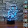 USB Controle Remoto Colorido Pokemon Squirtle 3D Luminaria Lâmpada de Mesa LEVOU Luzes Da Noite Crianças Quarto Iluminação Decorativa Grandes presentes