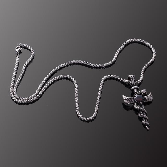 Men's Stainless Steel Pendant Necklace