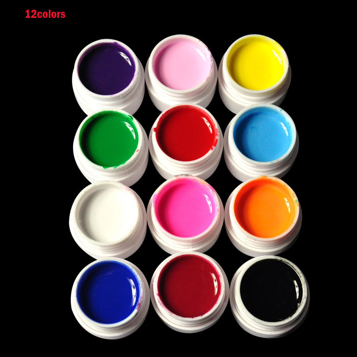 36 colores / set Pure Color uv gel Nail Art Tips Shiny Cover - Arte de uñas - foto 4