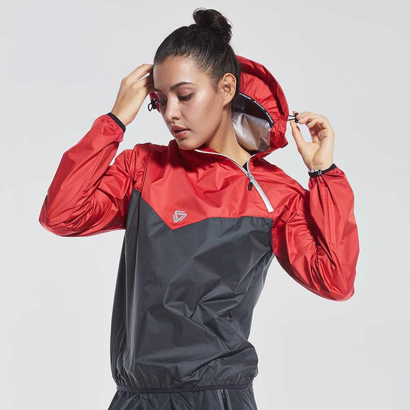 Популярное Утягивающее боди бег куртка с капюшоном Женская сауна пот одежда с длинным рукавом Куртка Тренажерный зал Термо футболка для бега Спортивная тренировочная спортивная одежда
