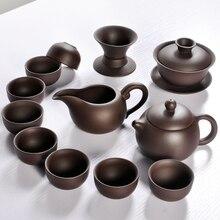 Heißer Verkauf Keramik Lila Ton Tee-Set Kung Fu Topf Infuser Xishi Gaiwan Teekanne Portion Tasse Teetasse Chinesische Drink Hohe qualität
