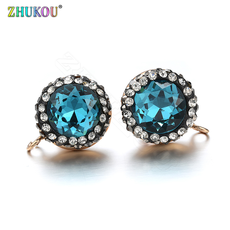 ZHUKOU A pair of 2018 NEW arrival Fashion woman stud Earrings with stones Modern women's Earrings jewelry Gothic earrings set