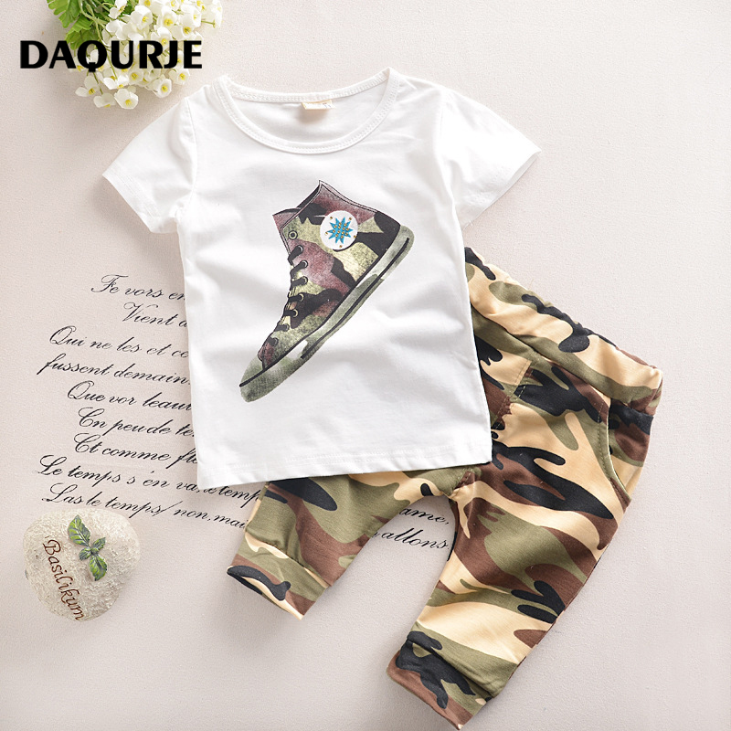 Boys Clothes 2017 summer kids Baby boy clothing set toddler children roupas infantis menino T-shit+shorts vetement enfant garcon