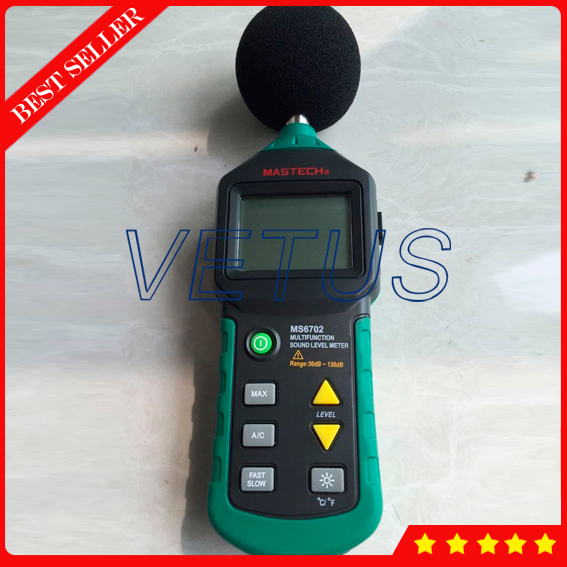 MS6702 30dB~130dB Digital Sound Level Meter with Temperature measuring