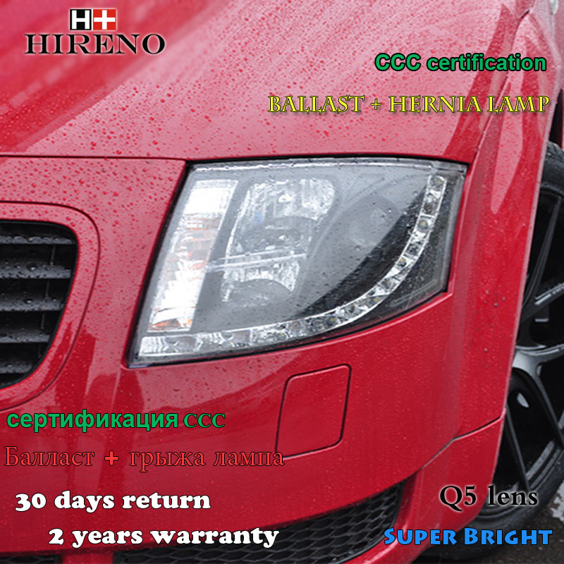 Hireno Car styling Headlamp for 1999-2006 Audi TT Headlights LED Headlight Assembly DRL Angel Lens Double Beam HID Xenon 2pcs hireno car styling headlamp for 2007 2011 honda crv cr v headlight assembly led drl angel lens double beam hid xenon 2pcs
