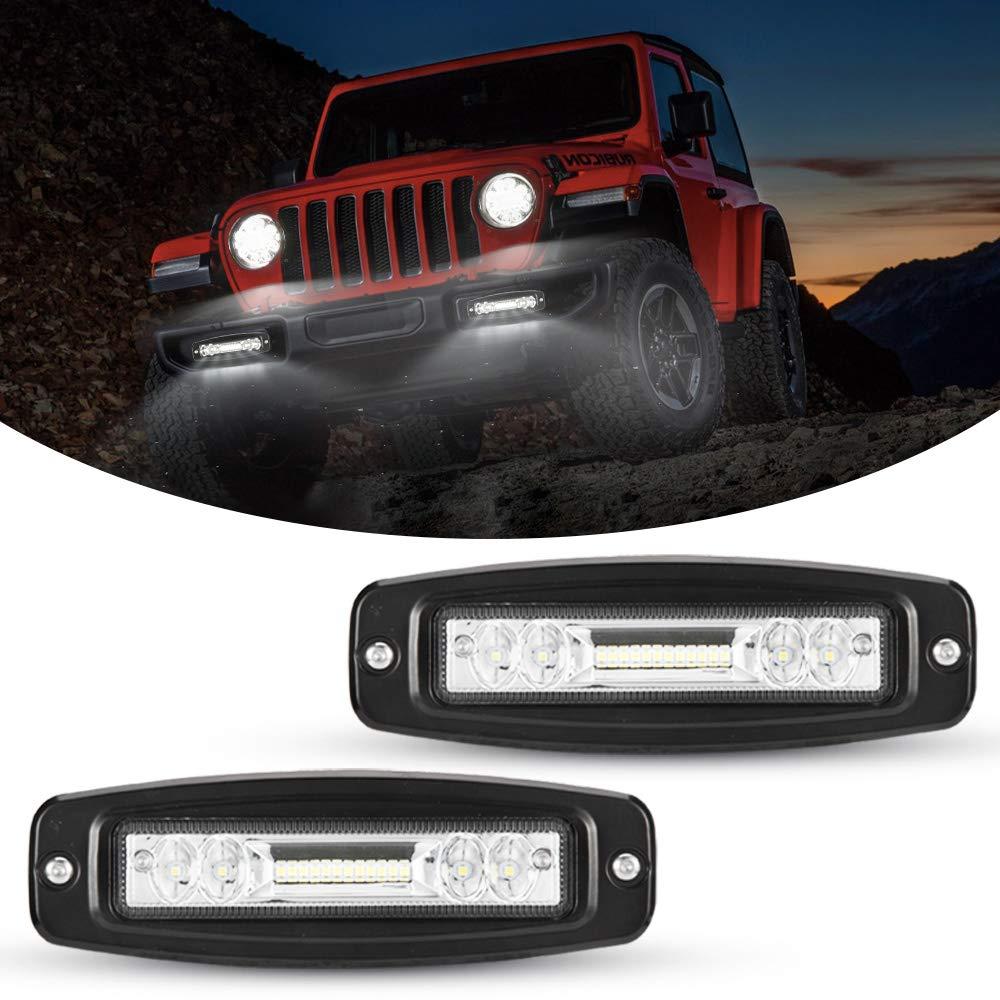 SKYWORLD Ultra-Slim Single Row LED Light Bar 7 inch 30W Spotlight Fog Driving Light Roof Bumper Light Bars for Trucks Boat ATV UTV SUV