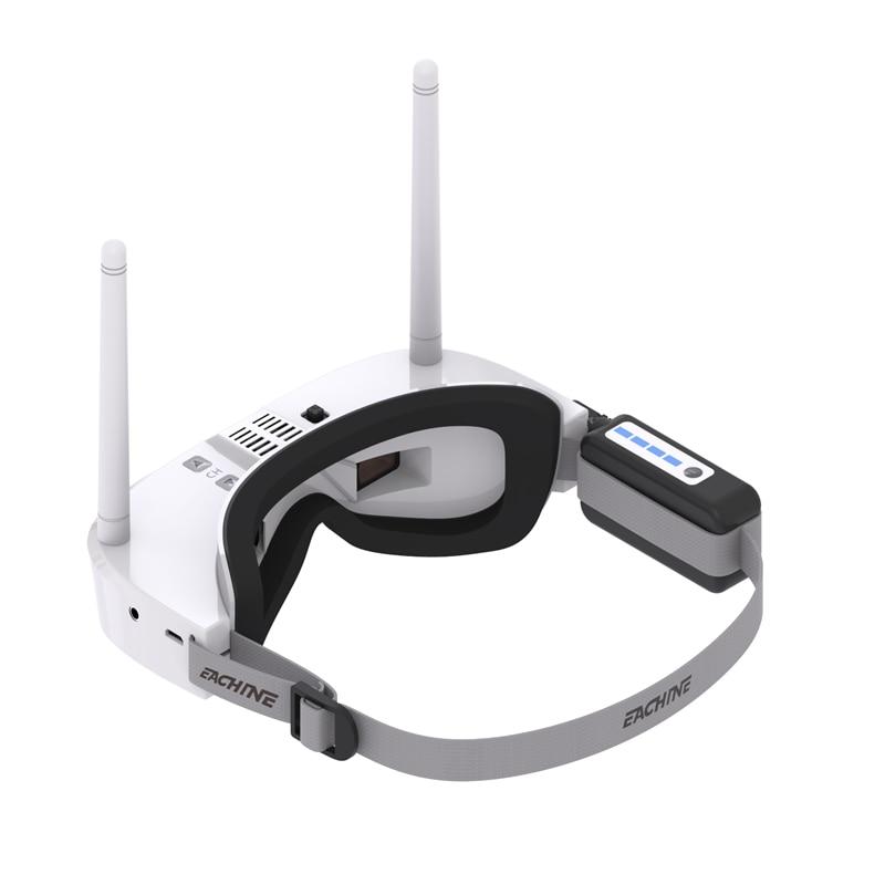 Eachine EV100 720*540 5.8G 72CH FPV lunettes blanc avec Mini DVR 7.4V 1000mAh batterie RC Drone télécommande jouets pièces - 2
