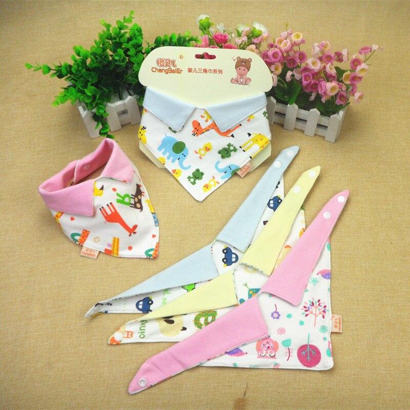 3pieces bibs Justerbar Print Baby Bibs Handduk Småbarn Nyfödda - Babykläder