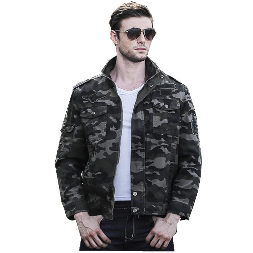 Camo Military Clothing Autumn Winter American Military Style Stand Collar Men 39 S Jacket Fashion