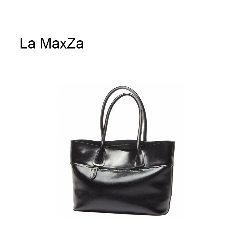 La MaxZa  Cow Split Leather Women Top Handle Satchel Handbags High Quality Greased Leather Shoulder Bag Tote PurseLa MaxZa  Cow Split Leather Women Top Handle Satchel Handbags High Quality Greased Leather Shoulder Bag Tote Purse