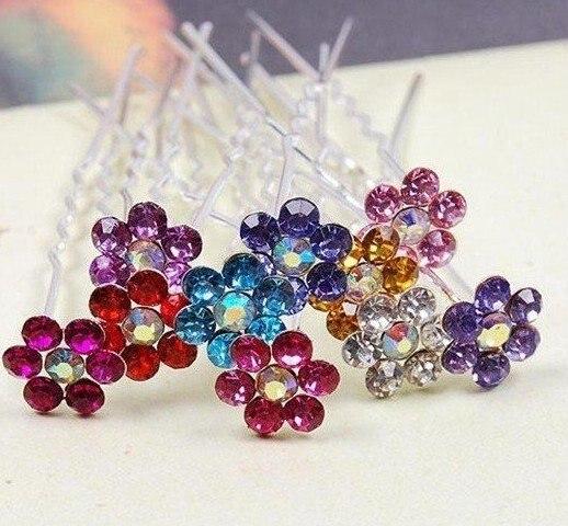 200pcs/lot Wedding Hair Accessories, Woman Bride Party Crystal Hair Pins Fashion Girls Hair clips hairpins